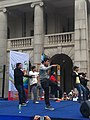 HK 中環 Central 遮打道 Chater Road 香港 前立法會大樓 former Legco Building Sunday morning 菲律賓男生 Filipino dancers Jan-2012 Ip4 09.jpg