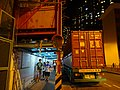 HK 屯門 Tuen Mun night 屯門鄉事會路 88 Heung Sze Wui Road construction site sign outdoor sidewalk carpark container tail marks July 2016 DSC.jpg