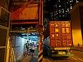 HK 屯門 Tuen Mun night 屯門鄉事會路 88 Heung Sze Wui Road construction site sign outdoor sidewalk carpark container tail marks July 2016 DSC.jpg