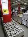 HK CWB Park Lane basement shop IKEA Glimma Tea Lights candles price label Dec-2015 DSC.JPG
