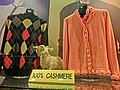 HK TST Sheraton Hotel female clothing shop window Cashmere wool Feb-2013.JPG