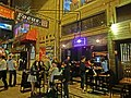 HK Wan Chai 廈門街 Amoy Street night restaurant Kura Kura visitors 6-Apr-2013.JPG