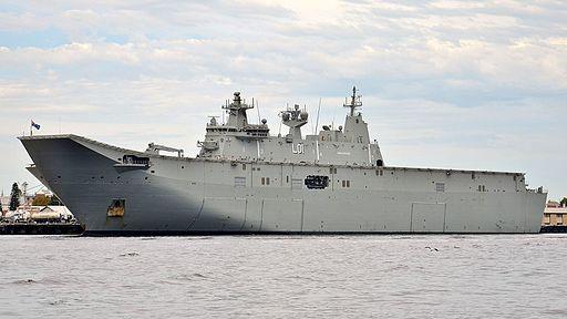 HMAS Adelaide (L01), Fremantle, 2017 (02)