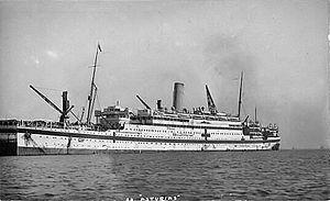 HMHS Asturias - Asturias as a hospital ship