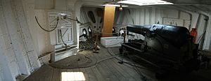 HMS Gannet 1878 forecastle compartment with gun.JPG