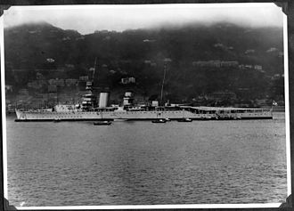 HMS Vindictive (1918) - Vindictive in China, 1926. After re-conversion into a cruiser