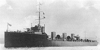 HMS Zulu (1909) - Image: HMS Zulu