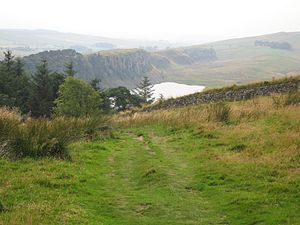 Hadrian's Wall Path - Crag Lough, near Steel Rigg on the Path. Photo taken from Hotbank Crags.