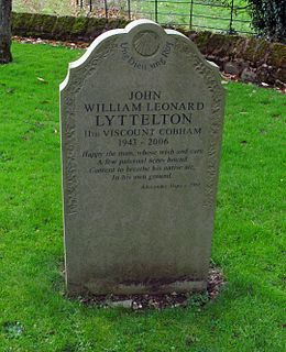 John Lyttelton, 11th Viscount Cobham nobleman in the United Kingdom