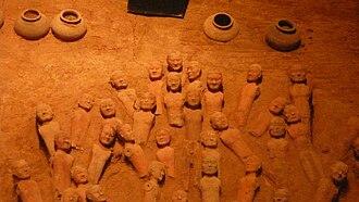Han Yang Ling - Burial figures in the Han Yang Ling Mausoleum