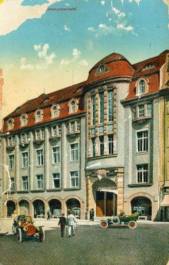 HHL Leipzig Graduate School of Management - Historical building of the Handelshochschule Leipzig, built in 1910 at Ritterstrasse. Today it is part of the Leipzig University as Geschwister-Scholl-Haus.