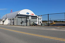 Hangar at Chatham Municipal Airport.JPG