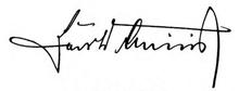 Signature of Hans Dominik