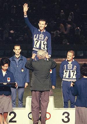 Bill Dellinger - Bill Dellinger (right) at the 1964 Olympics