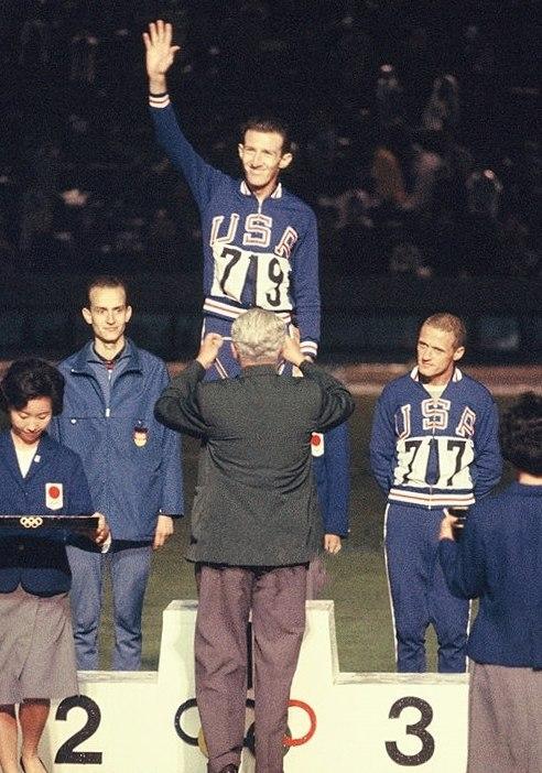 Harald Norpoth, Bob Schul, Bill Dellinger 1964