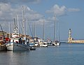 Harbor and lighthouse in Chania. Crete, Greece.jpg
