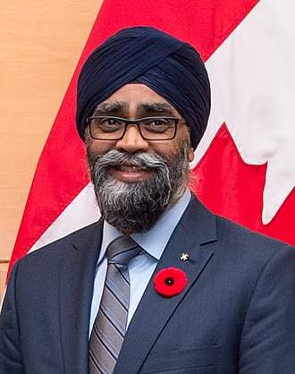 Harjit Sajjan - Sajjan at NATO in 2017