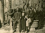Harold Acton, his mother Hortense and his uncle Guy Mitchell at La Pietra, 1920s.jpg