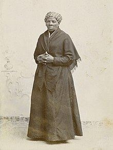 Full-length photo of Tubman standing