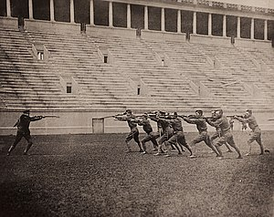 Harvard ROTC - Bayonet Drill, Harvard ROTC at Stadium, 1917-1918