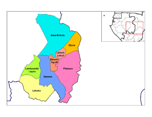 Haut-Ogooué Province - Departments of Haut-Ogooué