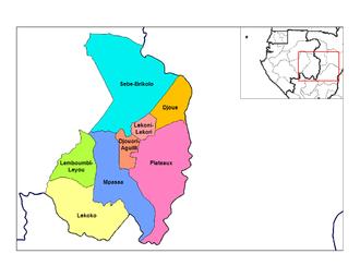 Haut-Ogooué Province - Departments of Haut-Ogooué