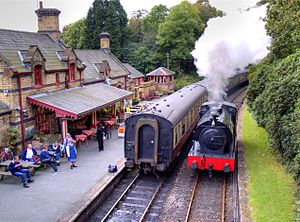 Lakeside and Haverthwaite Railway - Image: Haverthwaite Station 1