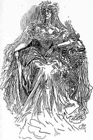 Miss Havisham in una illustrazione di Harry Furniss