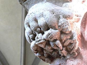 Judensau - Image: Heilsbronn Münster Mortuarium 0