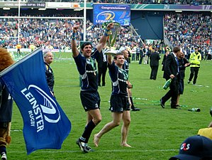 Gordon D'Arcy - D'Arcy and Shane Horgan celebrate their 2009 Heineken Cup Final win