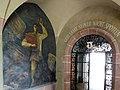 Heinrich Altherr (1878–1947), murals from 1942–1946 in the cloister of the State Archives Basel-Stadt Martinsgasse 2, Basel-Stadt.  Built in 1898 by the architects Eduard Vischer and Rudolf Eduard Fueter.  State archivist Rudolf Wackernagel (1855–1925) designed the interior design.