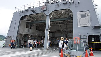 Hangar - The helicopter hangar of an Akizuki-class destroyer.