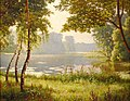 Henri Biva, Paysage avec étang, oil on canvas, 81.3 × 101.6 cm.jpg