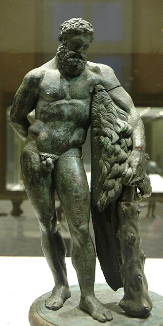 Farnese Hercules - Late Classical Greek bronze version, found at Foligno (Musée du Louvre)