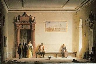 Hermann Dyck - The Waitingroom, 1857