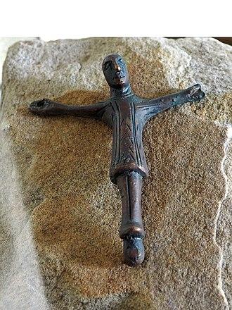 Hermannsburg - Bronze crucifix from the 10th century (replica)