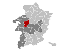 Location of Heusden-Zolder in Limburg