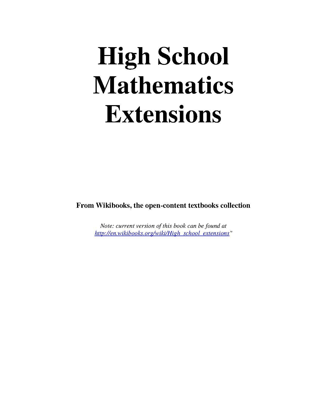Httpwww Overlordsofchaos Comhtmlorigin Of The Word Jew Html: File:High School Mathematics Extensions.pdf