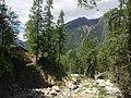 Hiking Trail at base of Cascade du Dard, near Chamonix, France - panoramio.jpg