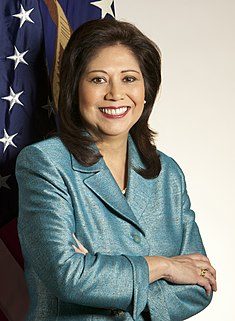 Secretary of Labor Hilda Solis was the first Hispanic woman to serve in the Cabinet.