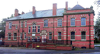 Hindley, Greater Manchester - Hindley Council Offices viewed from Cross Street in 2006.