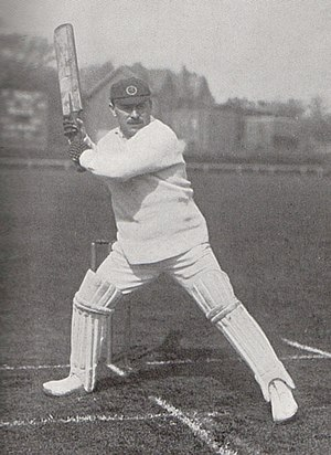 George Hirst - George Hirst getting into position to pull a short ball, photographed by George Beldam