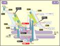 Hisaya-odori station map Nagoya subway's Meijo line 2014.png