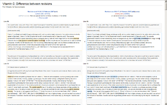 Differences between versions of an article are highlighted History Comparison Example (Vector).png