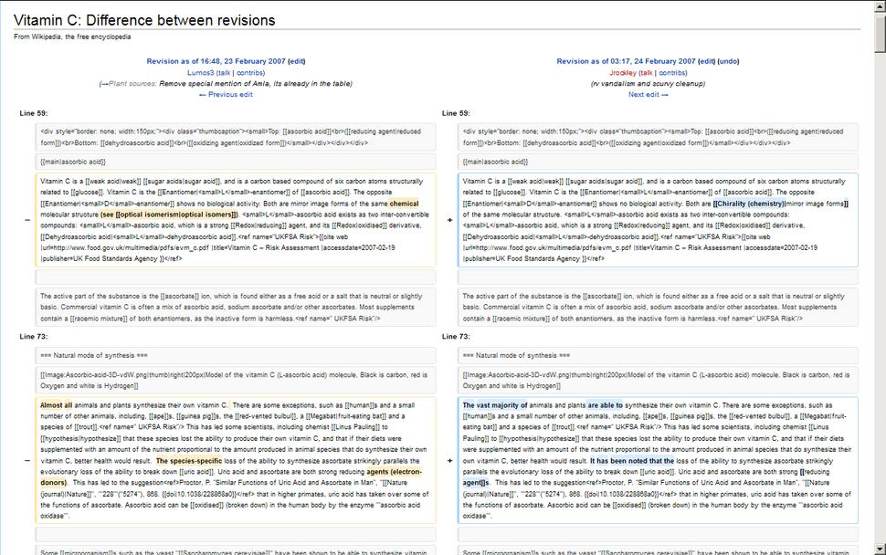 History Comparison Example (Vector)