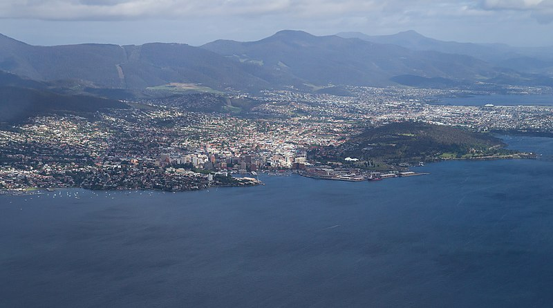 File:Hobart from the air.jpg