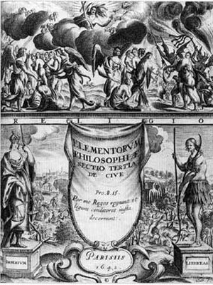 Thomas Hobbes - Frontispiece from De Cive (1642)