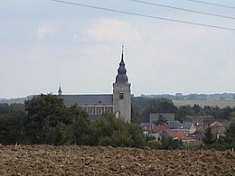 The center of Hoegaarden with the Gorgonius church
