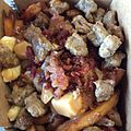 Hogtown Poutine with peppercorn gravy, sausage, bacon, mushrooms, onions (16022430855).jpg