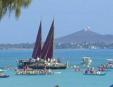 Hokulea at Kailua cropped